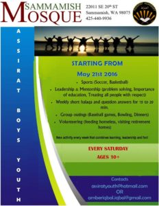 Assirat Boys Youth Group Flyer